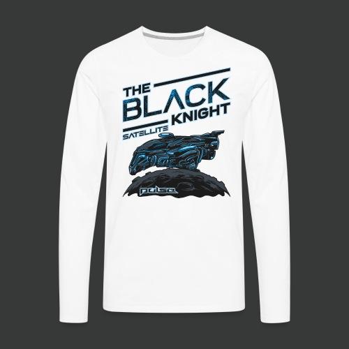 The Black Knight Satellite (Pulse) (For White) - Men's Premium Long Sleeve T-Shirt