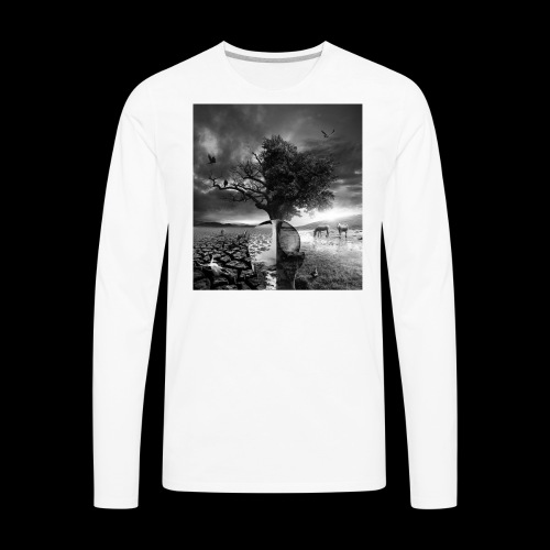 Life and Death - Men's Premium Long Sleeve T-Shirt