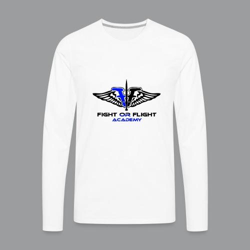 Fight or Flight Academy Logo - Men's Premium Long Sleeve T-Shirt