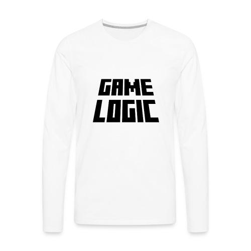Game Logic Logo - Men's Premium Long Sleeve T-Shirt