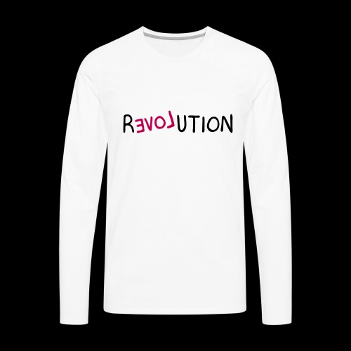 re-LOVE-ution - Men's Premium Long Sleeve T-Shirt
