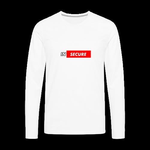 funny Insecure supreme like design - Men's Premium Long Sleeve T-Shirt