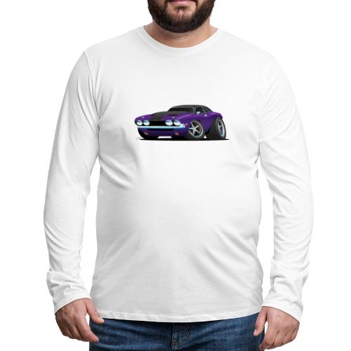 Classic Muscle Car Cartoon - Men's Premium Long Sleeve T-Shirt
