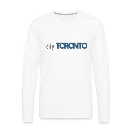 cityTorontoLogoNEW.png - Men's Premium Long Sleeve T-Shirt
