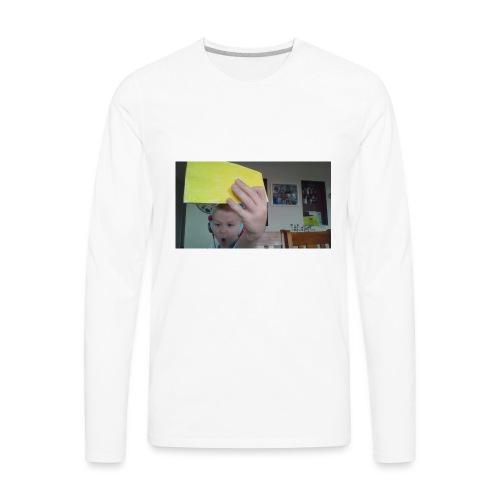 the paper golden shirt - Men's Premium Long Sleeve T-Shirt