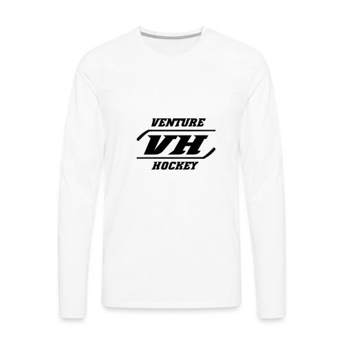 Original Venture Hockey Logo - Men's Premium Long Sleeve T-Shirt