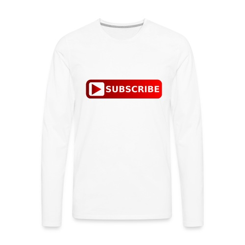 subscribe png youtube subscribe red png image 3935 - Men's Premium Long Sleeve T-Shirt
