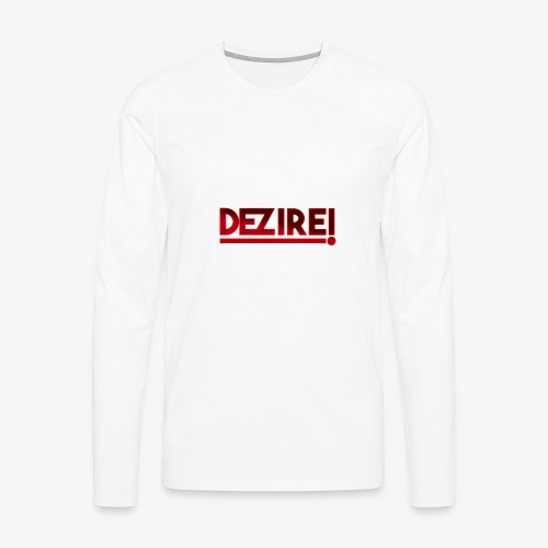 Dezire | Metallic Red - Men's Premium Long Sleeve T-Shirt
