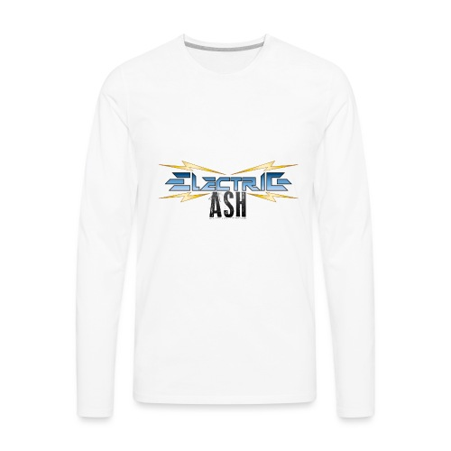 Electric Ash Logo - Main - Transparent Background - Men's Premium Long Sleeve T-Shirt