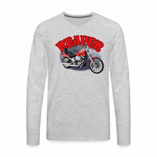 Motorcycle Reaper - Men's Premium Long Sleeve T-Shirt