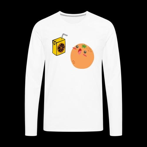 Oh orange you didn't - Men's Premium Long Sleeve T-Shirt