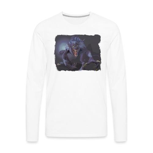 full moon risen - Men's Premium Long Sleeve T-Shirt