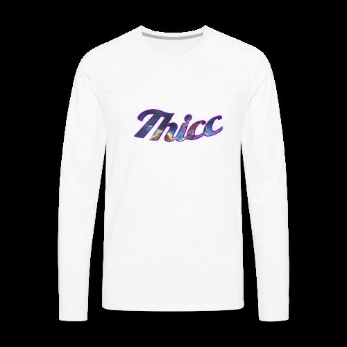Thicc Galaxy - Men's Premium Long Sleeve T-Shirt