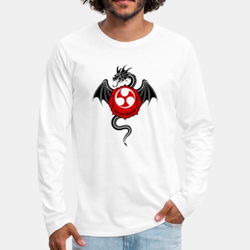 Dragon (B) - Larose Karate - Design Contest 2017 - Men's Premium Long Sleeve T-Shirt