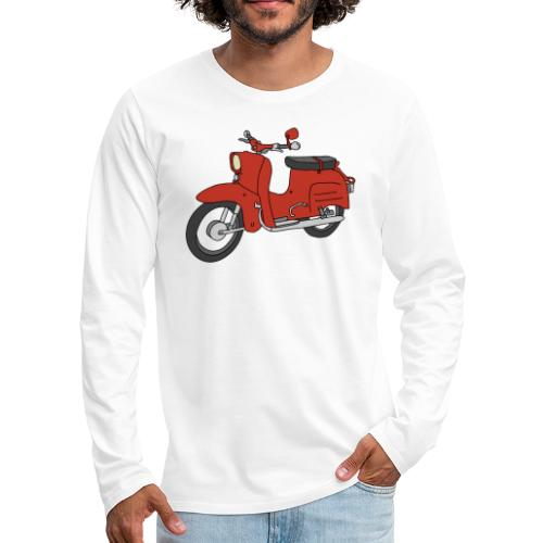 Schwalbe, ibiza-red scooter from GDR - Men's Premium Long Sleeve T-Shirt