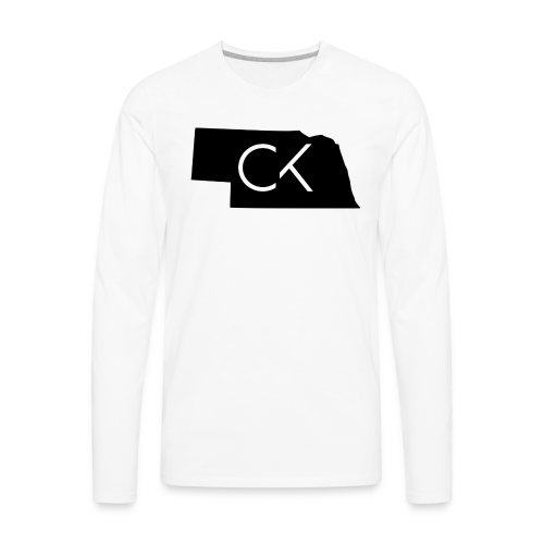 State of Nebraska Conor Keating Logo (White) - Men's Premium Long Sleeve T-Shirt