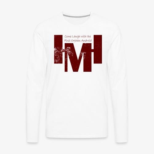 YouTube's Master Human: Grunge Underground Logo - Men's Premium Long Sleeve T-Shirt