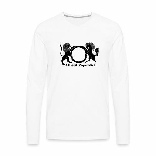 Atheist Republic Logo - Black - Men's Premium Long Sleeve T-Shirt