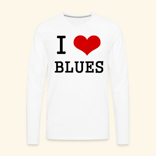 I Heart Blues - Men's Premium Long Sleeve T-Shirt