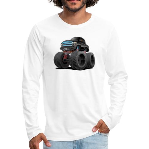 Monster Pickup Truck Cartoon - Men's Premium Long Sleeve T-Shirt