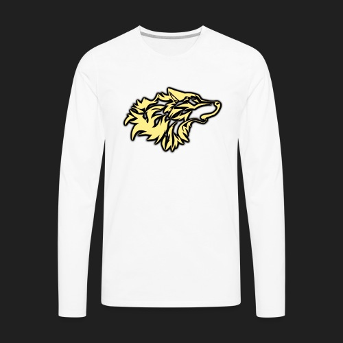 wolfepacklogobeige png - Men's Premium Long Sleeve T-Shirt