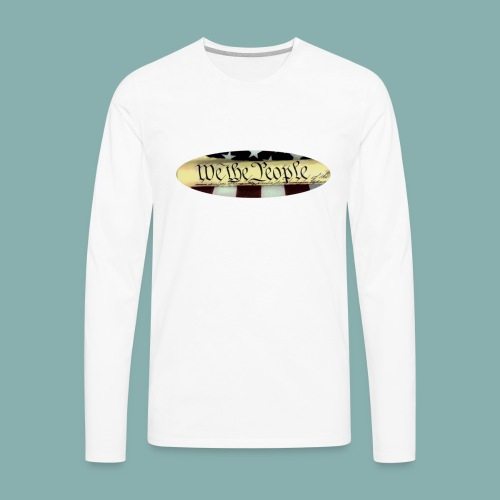 We the People color oval - Men's Premium Long Sleeve T-Shirt