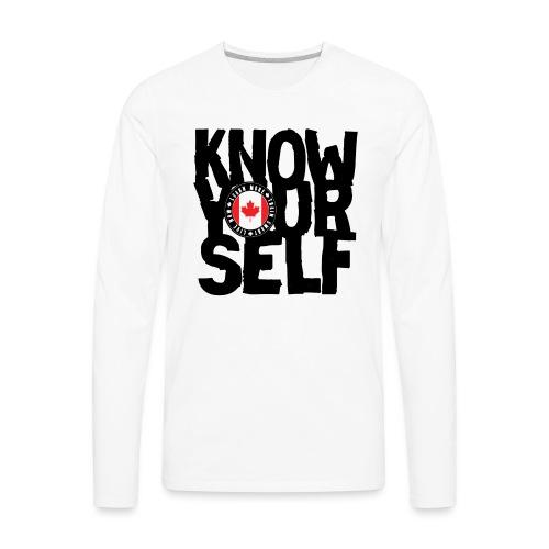 know black - Men's Premium Long Sleeve T-Shirt