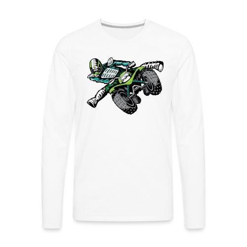 ATV Freestyle Quad Green - Men's Premium Long Sleeve T-Shirt