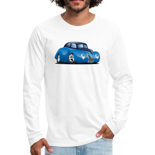 Classic 39 Street Rod Coupe Custom Car Cartoon - Men's Premium Long Sleeve T-Shirt