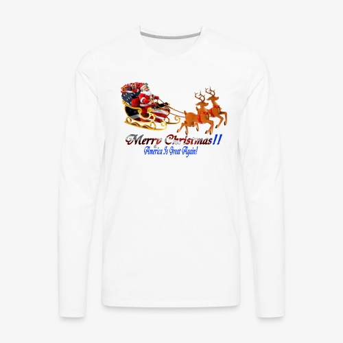 Merry Christmas-America - Men's Premium Long Sleeve T-Shirt