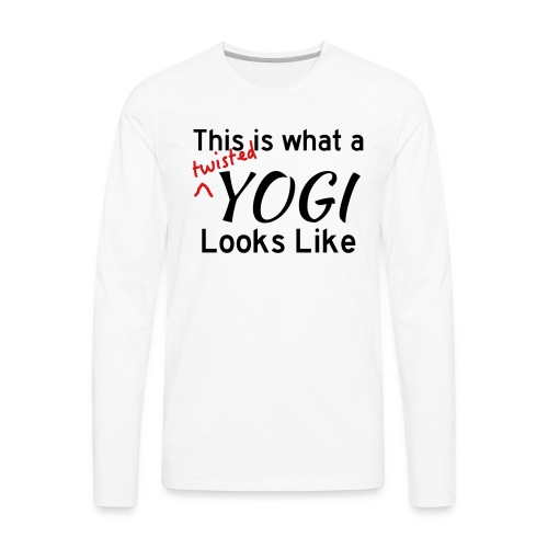 This is what a twisted yogi looks like (Women's) - Men's Premium Long Sleeve T-Shirt