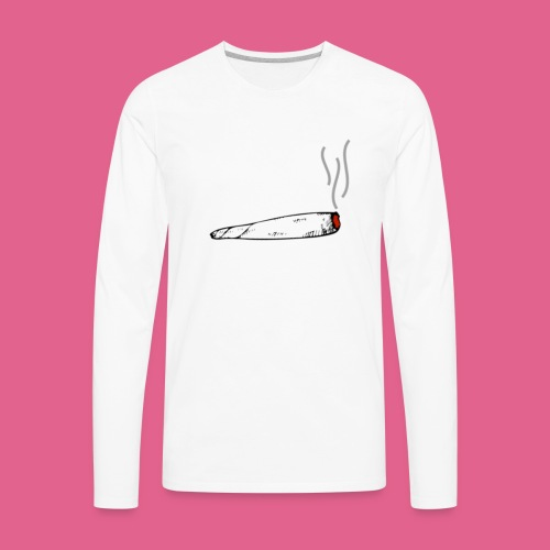 LIT WHITE BLACK GREY AND RED JOINT - Men's Premium Long Sleeve T-Shirt