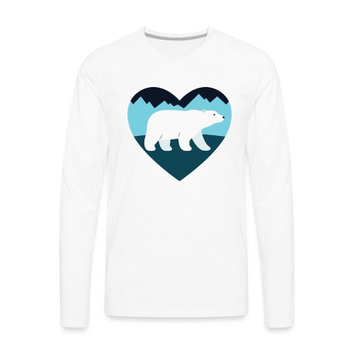 Polar Bear Love - Men's Premium Long Sleeve T-Shirt