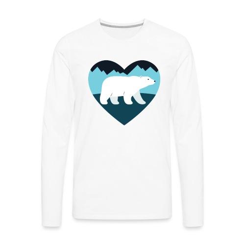 Polar Bear Love - Men's Premium Long Sleeve T-Shirt