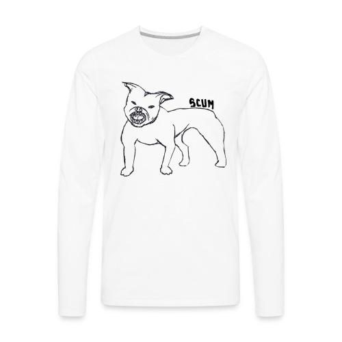Scum Pitbull - Men's Premium Long Sleeve T-Shirt