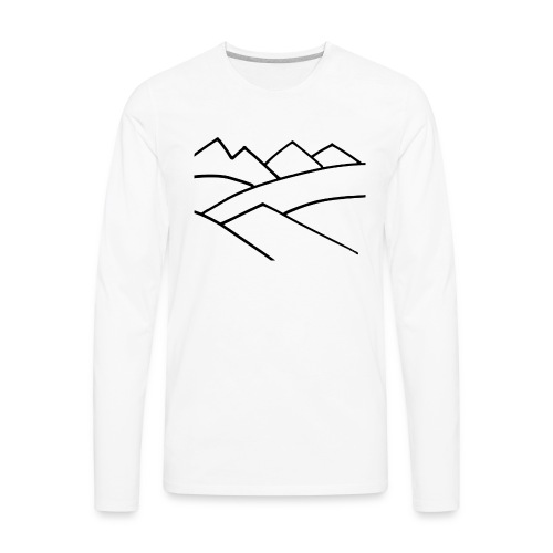 The Mountains - Men's Premium Long Sleeve T-Shirt