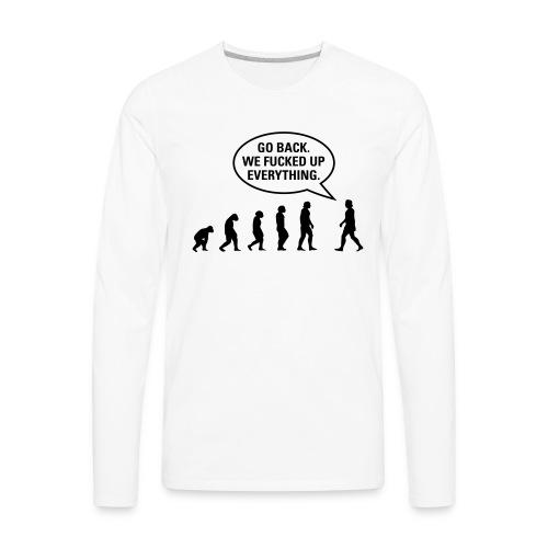 Fucked up Evolution - Men's Premium Long Sleeve T-Shirt