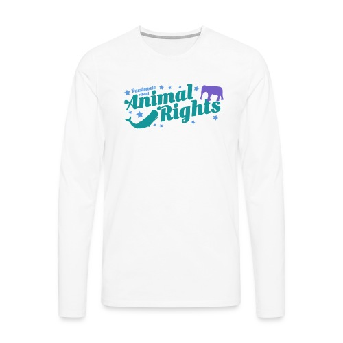 Animal Rights design - Men's Premium Long Sleeve T-Shirt