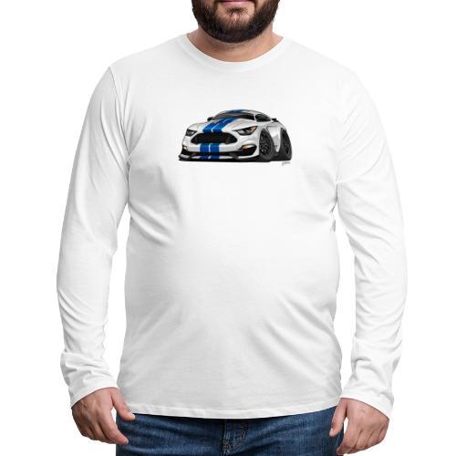 Modern American Muscle Car Cartoon - Men's Premium Long Sleeve T-Shirt