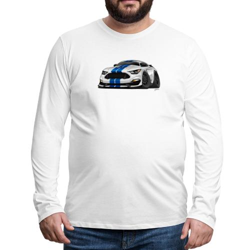 Modern American Muscle Car Cartoon - Men's Premium Long Sleeve T-Shirt