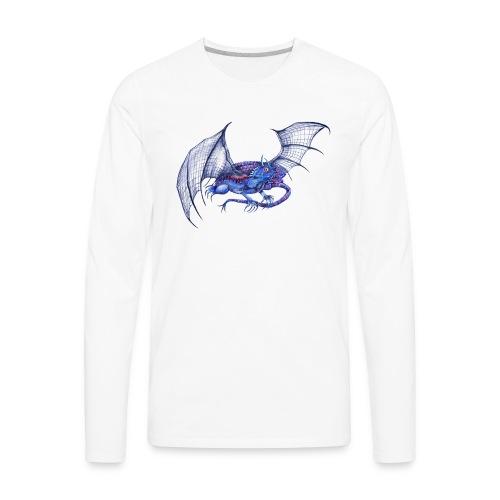 Long tail blue dragon - Men's Premium Long Sleeve T-Shirt