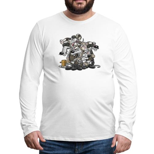 Line Rats - Men's Premium Long Sleeve T-Shirt