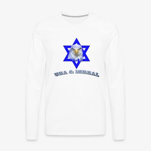USA & ISREAL - Men's Premium Long Sleeve T-Shirt