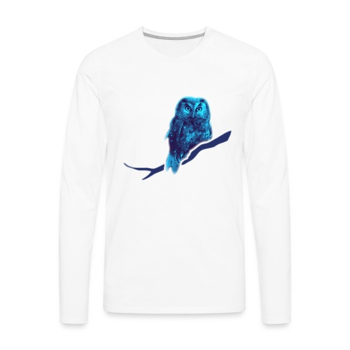 owl bird fowl blue - Men's Premium Long Sleeve T-Shirt