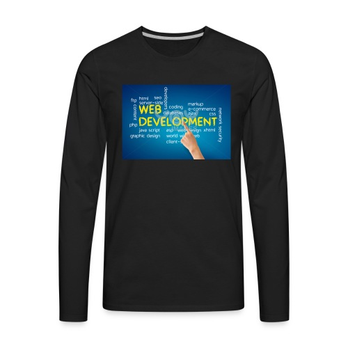 web development design - Men's Premium Long Sleeve T-Shirt
