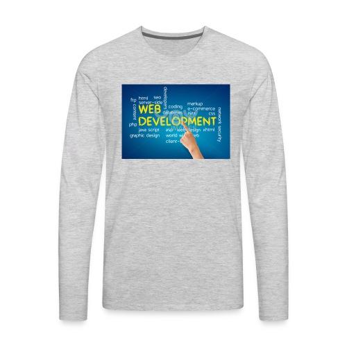 web development design - Men's Premium Long Sleeve T-Shirt