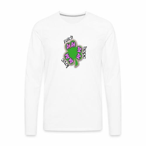 FAITH SHAMROCK - Men's Premium Long Sleeve T-Shirt