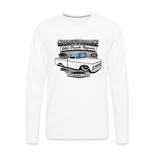 Greasy's Garage Old Truck Repair - Men's Premium Long Sleeve T-Shirt