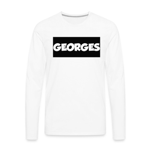 georges_logoshirt - Men's Premium Long Sleeve T-Shirt