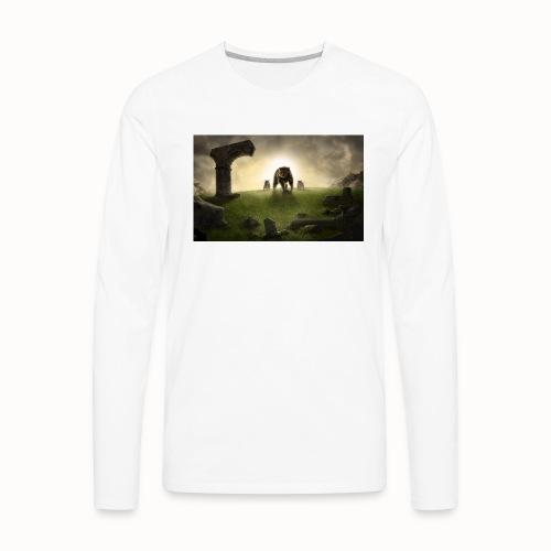 king bear with cubs merchandise - Men's Premium Long Sleeve T-Shirt